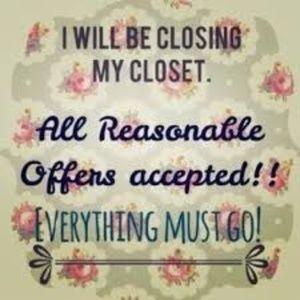 Tops - Closet Closing